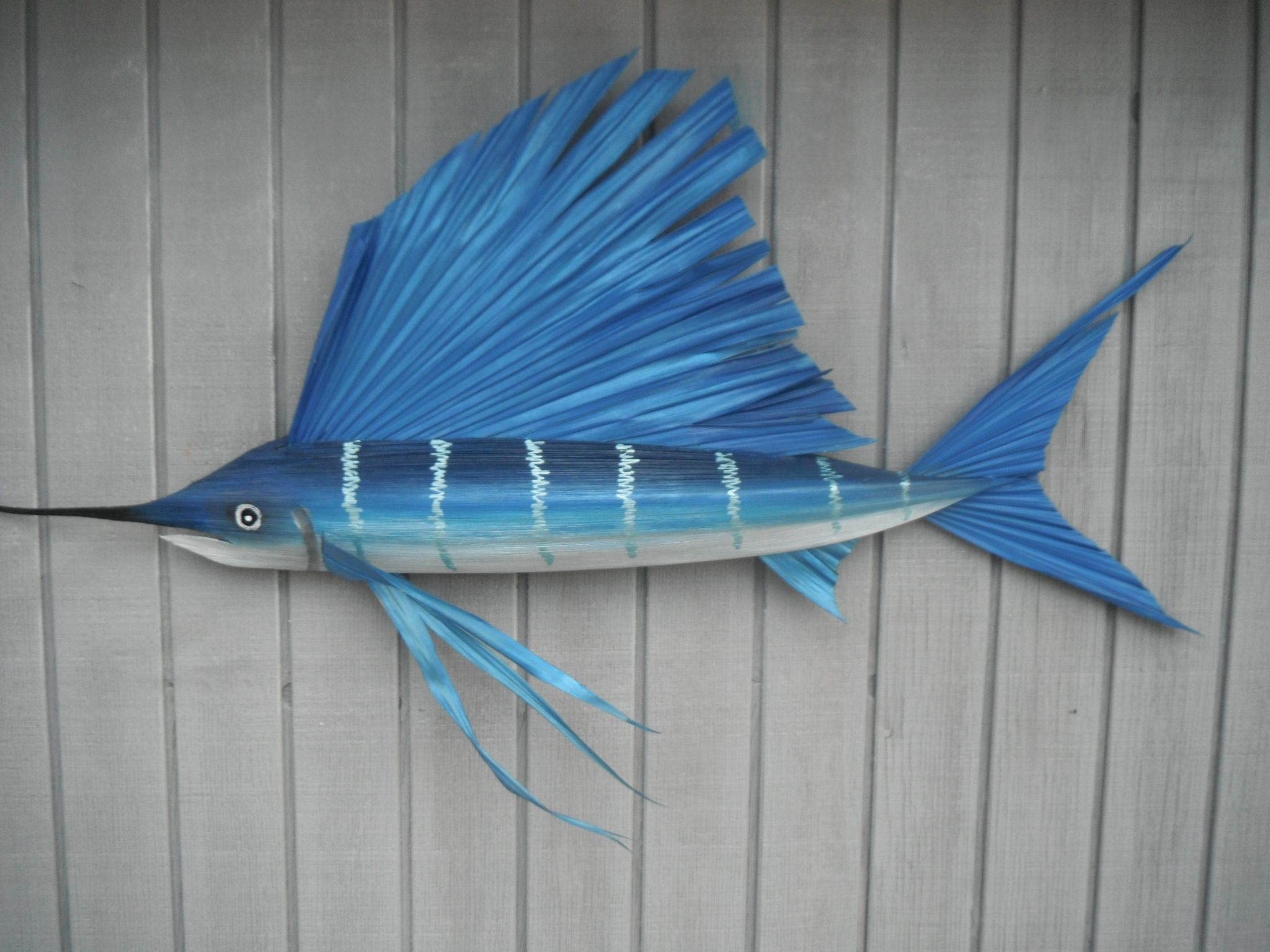 sailfish made entirely from materials I gather from Florida Keys