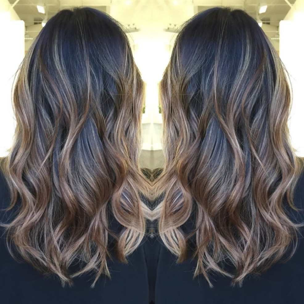 balayage hair color ideas with blonde brown and caramel
