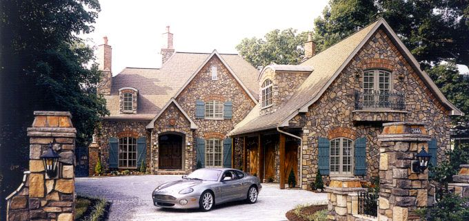 This Is An Image Of A House That Custom Stone Works Has