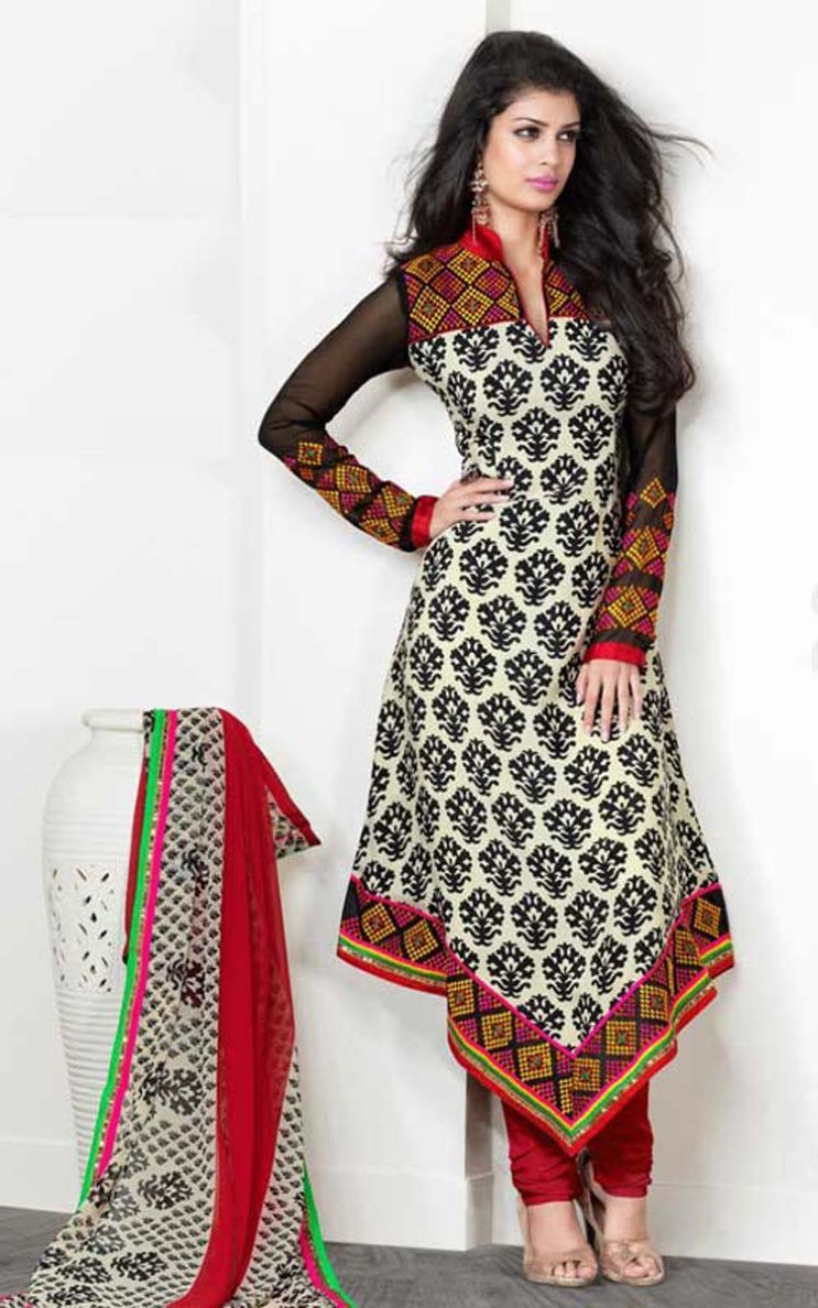 Z Fashion Trend Trendy Full Sleeves Designer Churidar