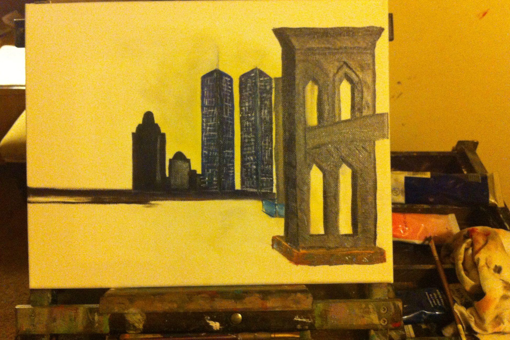 Brooklyn Bridge   Lena\'s Oil On Canvas   Pinterest   Brooklyn bridge ...
