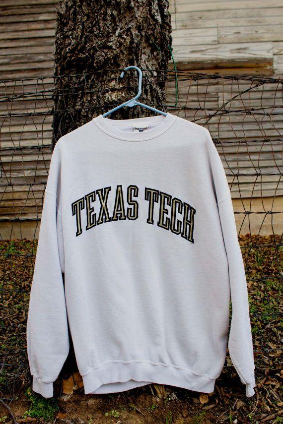 05031a5a Vintage Collegiate Texas Tech Sweatshirt by Oarsman 913 Sz: L Made ...