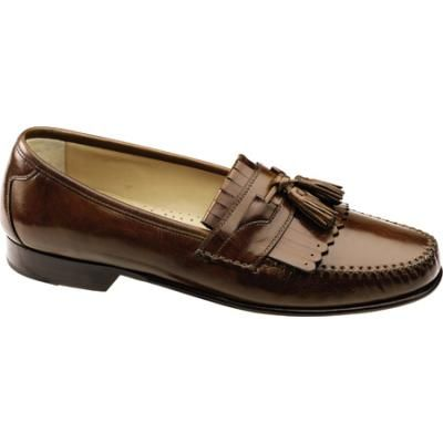JOHNSTON & MURPHY~MEN'S BROWN LEATHER SLIP ON DRESS LOAFERS~SIZE 12 M~ITALY