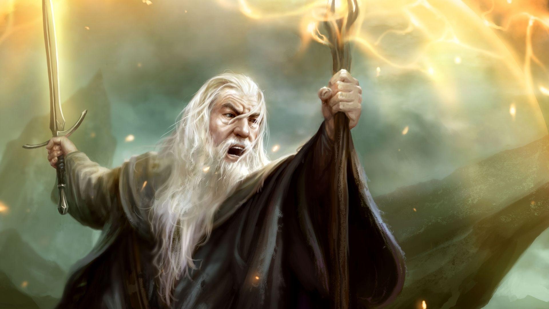 Fantasy Lotr Gandalf You Shall Not Pass Wallpaper Fantasy