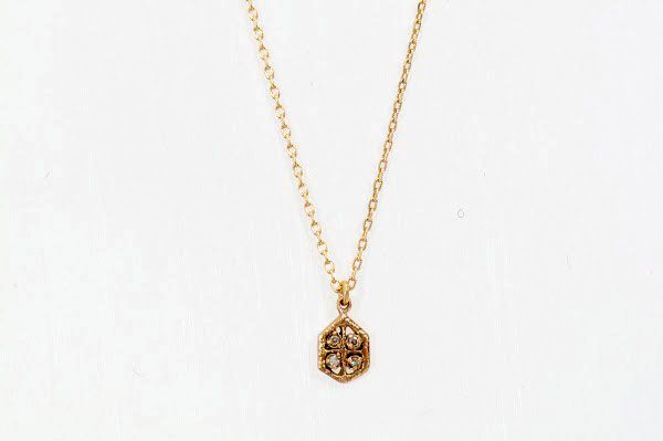 noguchi bijoux gold diamond necklace available at white bird jewellery designers naohiko. Black Bedroom Furniture Sets. Home Design Ideas