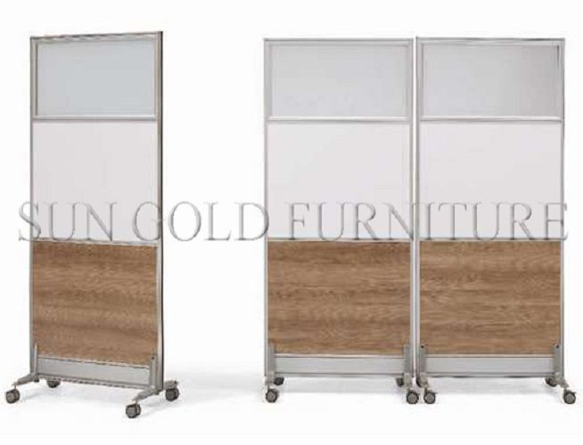 Modern Office Room Divider Removable Rolling Partition Wall SZ