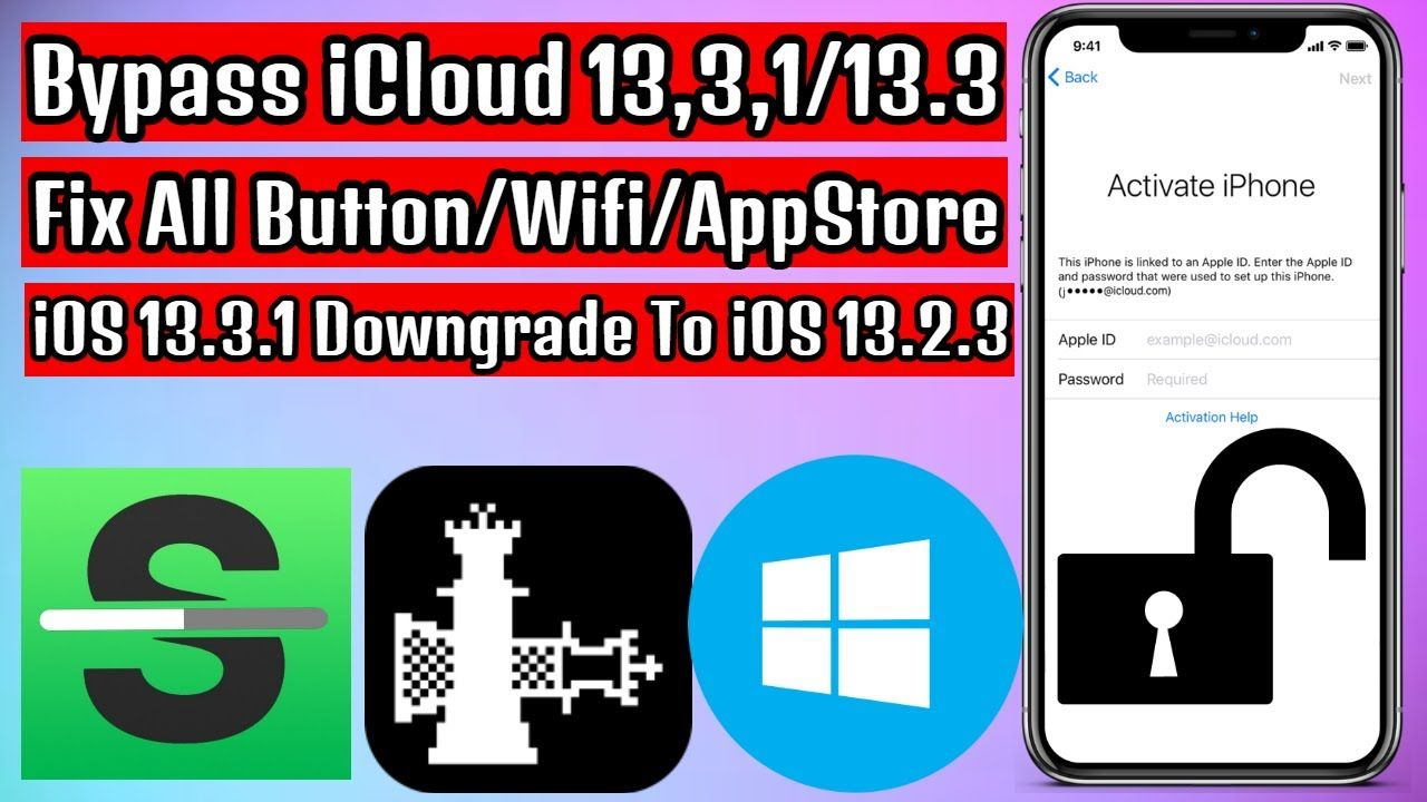 Bypass icloud ios 1331 downgrade to ios 1323 with auto