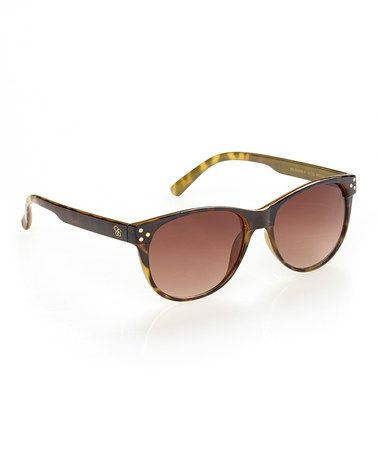 Jessica Simpson Collection Brown   Amber Oval Sunglasses. Óculos De Sol ... e9aaa96381