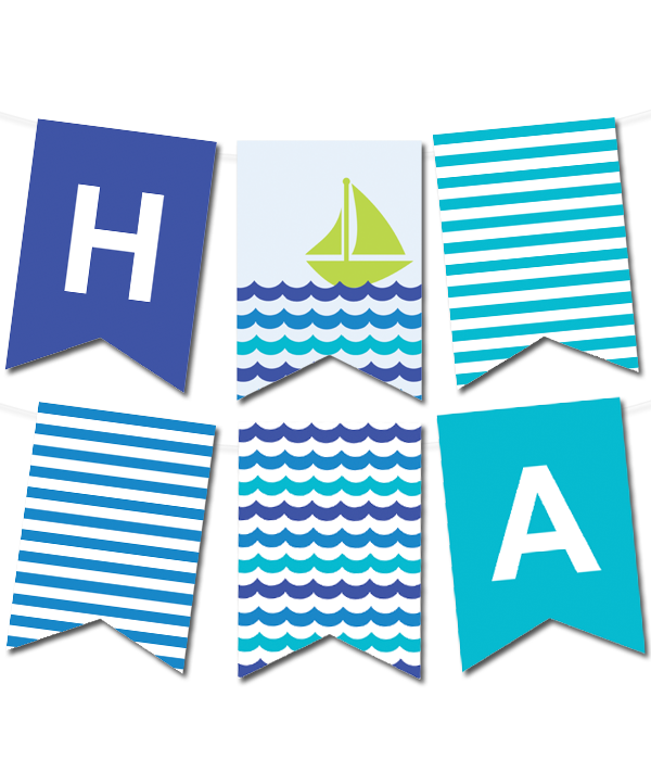 Sea Waves Pennant Banner Crafting Ideas Banner Pennant Banners