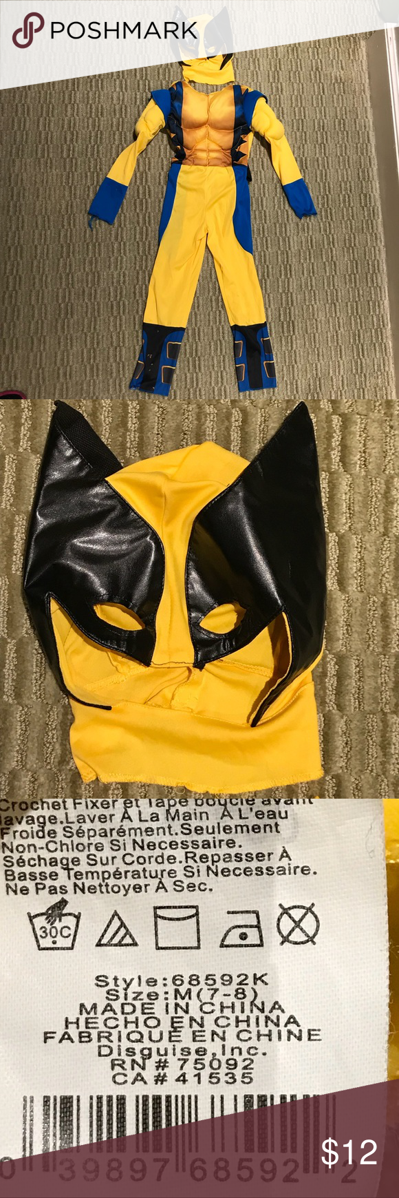 XMen Logan Wolverine Halloween Costume Previously loved