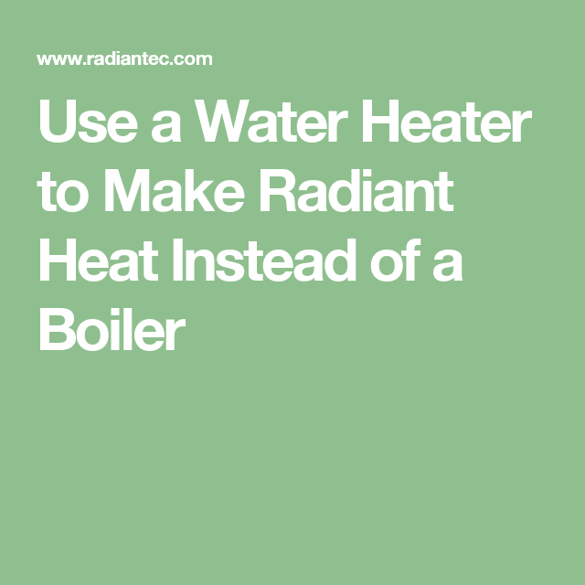 how to make water boiler