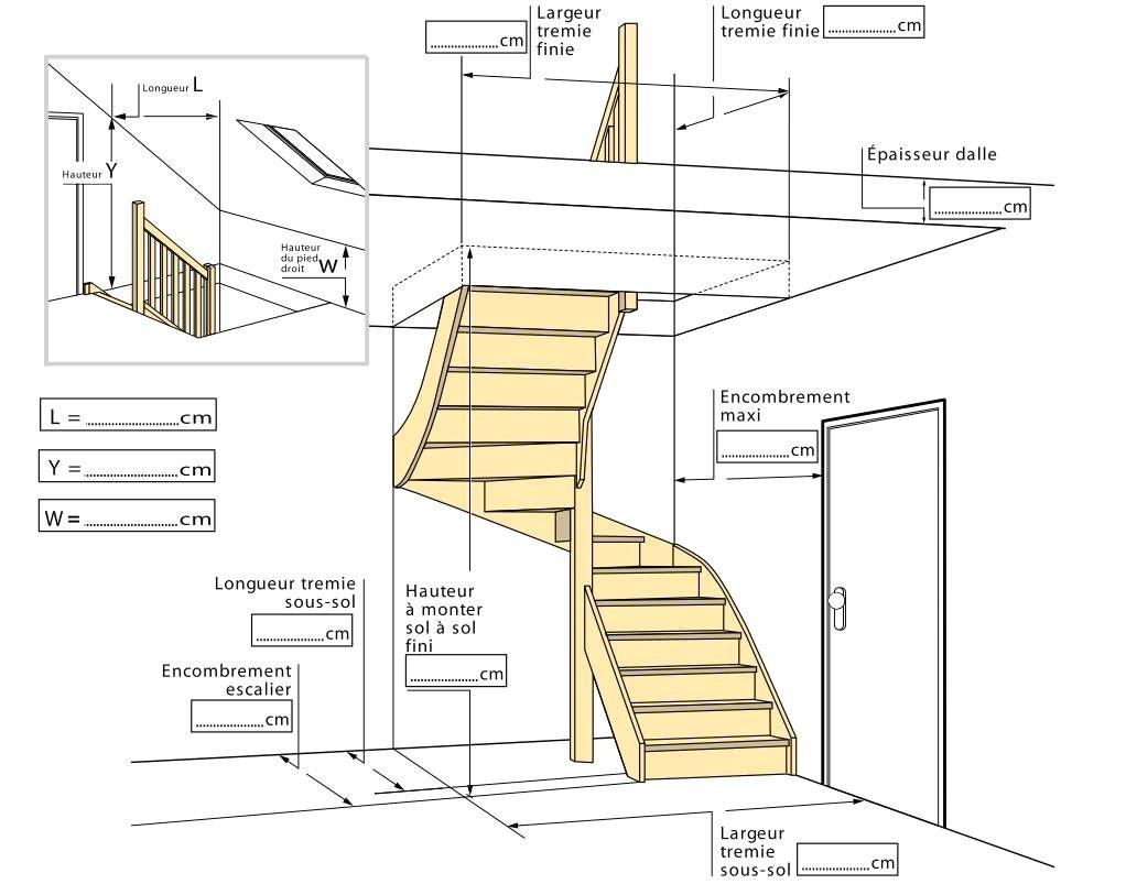 Calcul Escalier Quart Tournant Bas Of Avec Calcul Escalier Quart