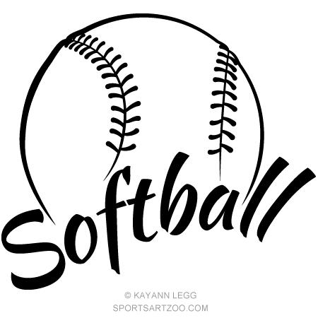 Softball With Fun Text Sportsartzoo Softball Clipart Softball Fun Texts