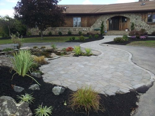 Ever see a landscape cut through a drive way? This is one way we can help YOU stand out among the crowd.