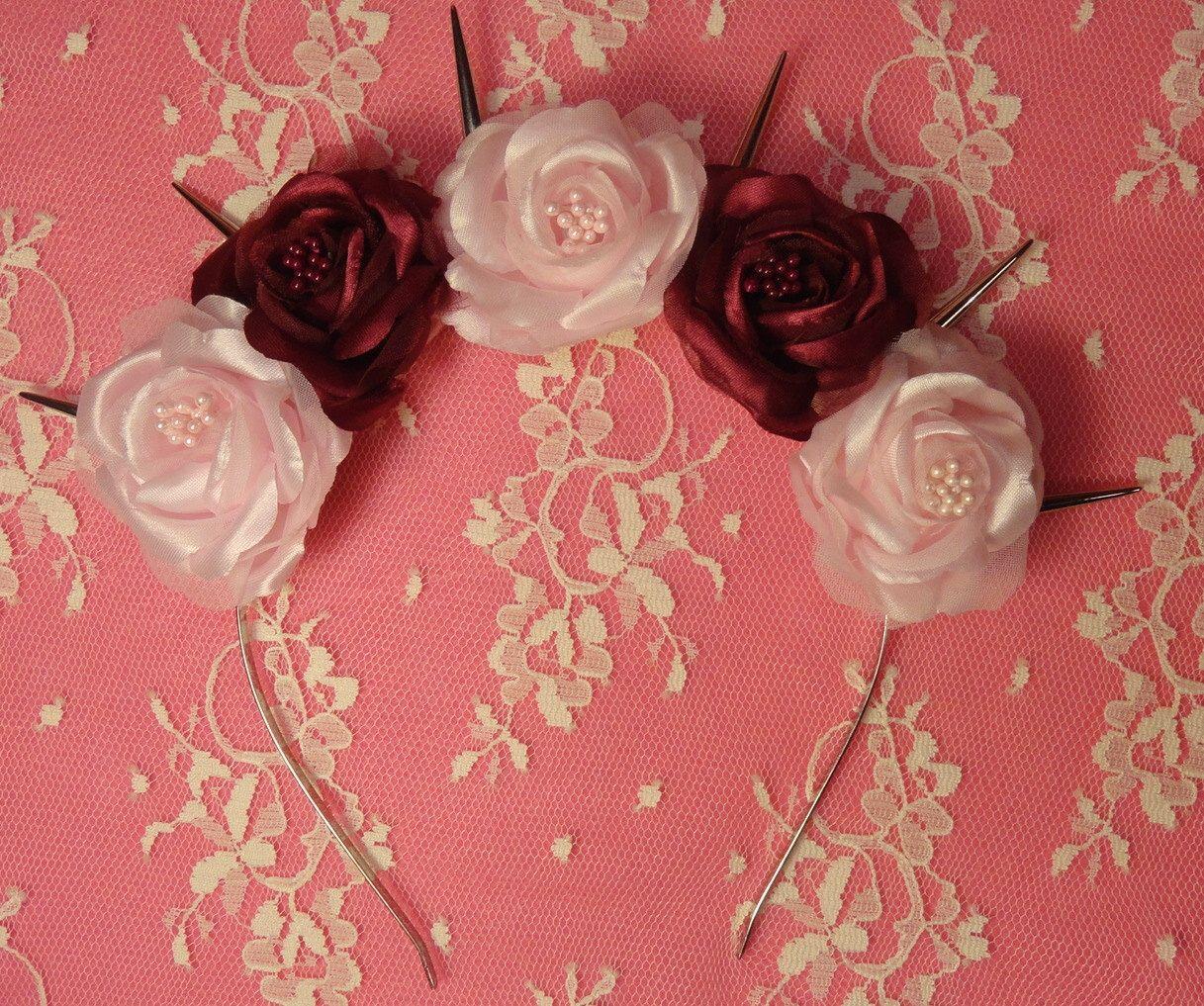Goth Flower Crown Cherrie Cherie Pastel Goth Flower Crown Pink