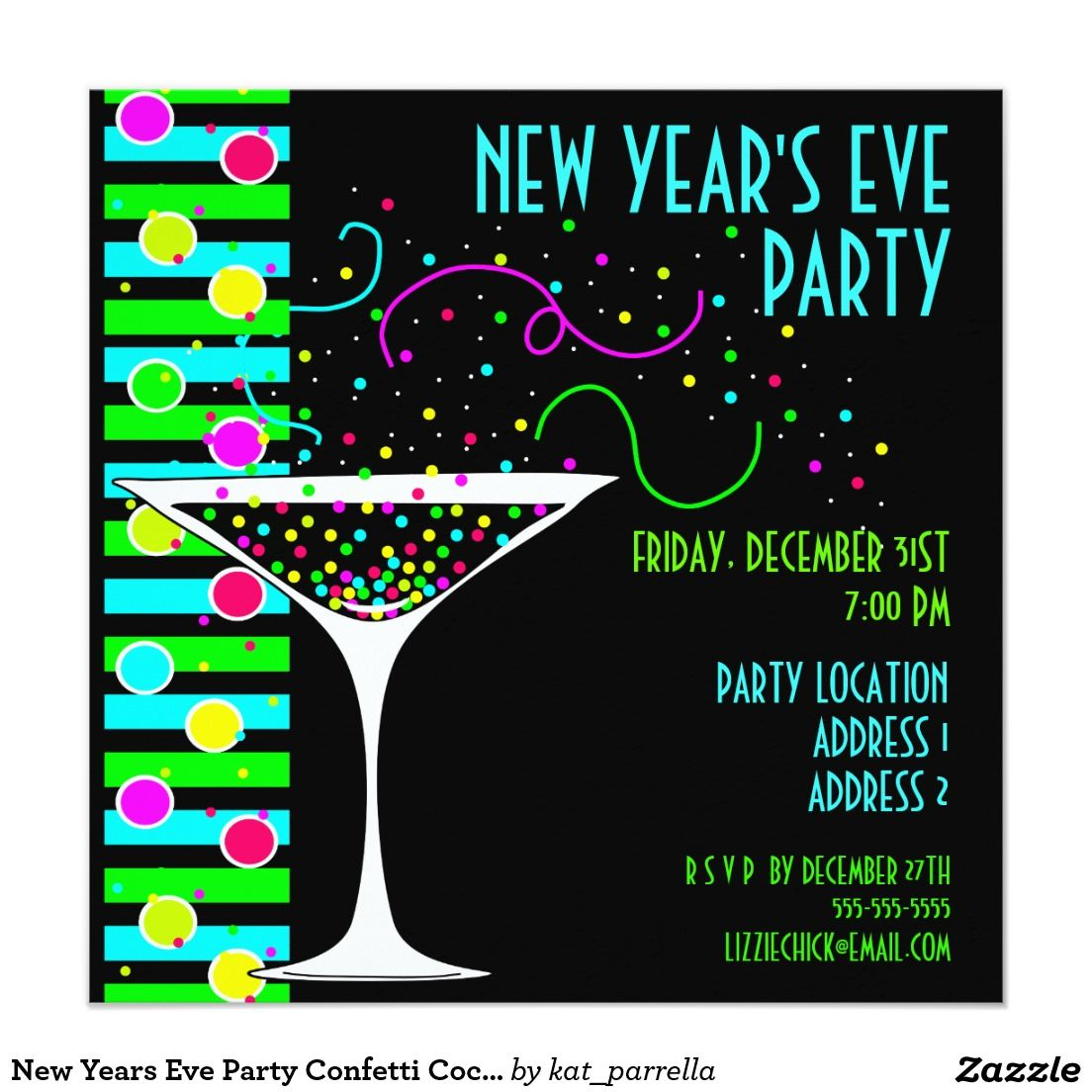Create your own Invitation New years eve