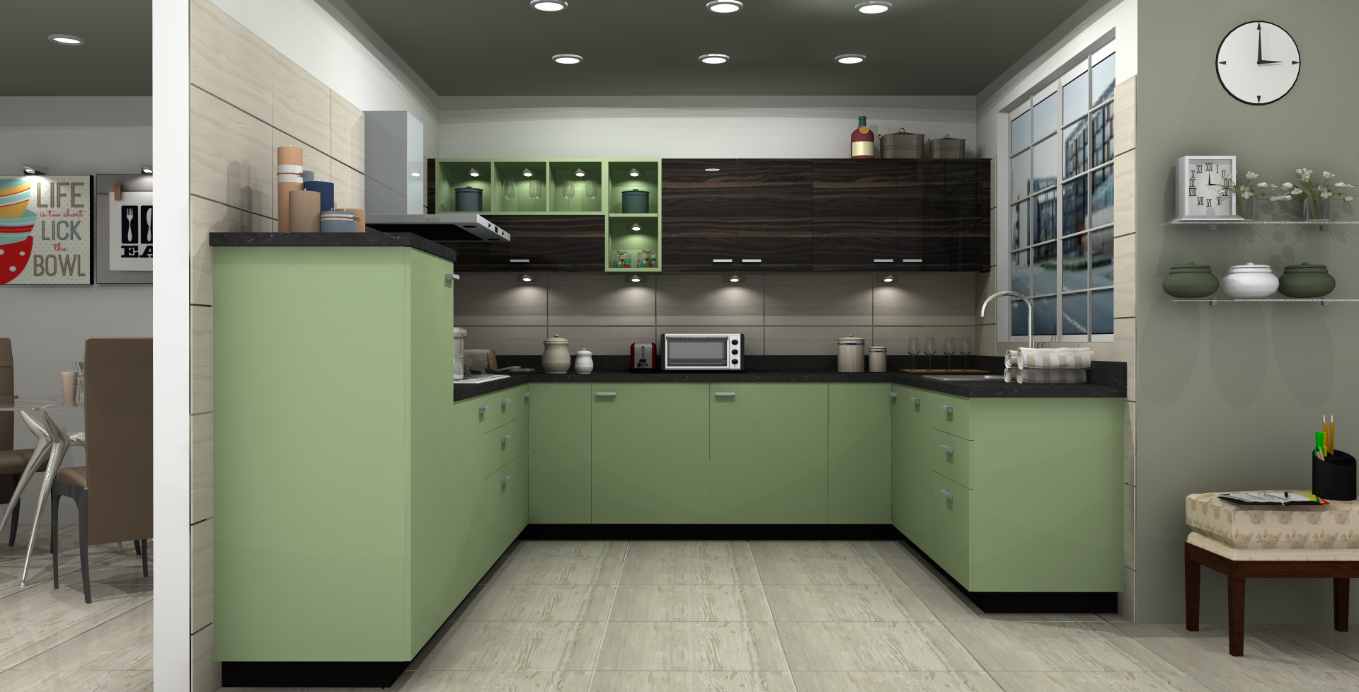 Elegant Modular Kitchen Designs By Sleek The Kitchen Specialist