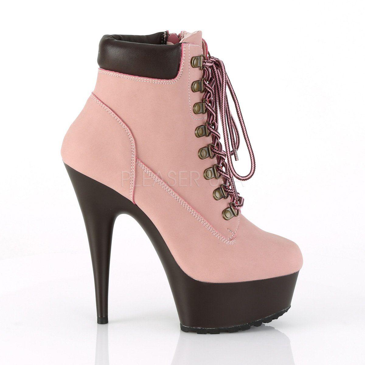 399d7cea855 ... Totally Wicked Footwear. Delight 600tl-2 Pink Nubuck Work Style 6