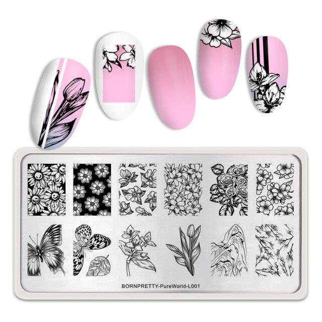 Urodzony Dostepne Plytki Do Tloczenia Paznokci Kwiat Piekno Motyl Obraz Pieczatka Na Paznokcie Szablon Szablon In 2020 Stamping Nail Art Pretty Nail Art Nail Patterns
