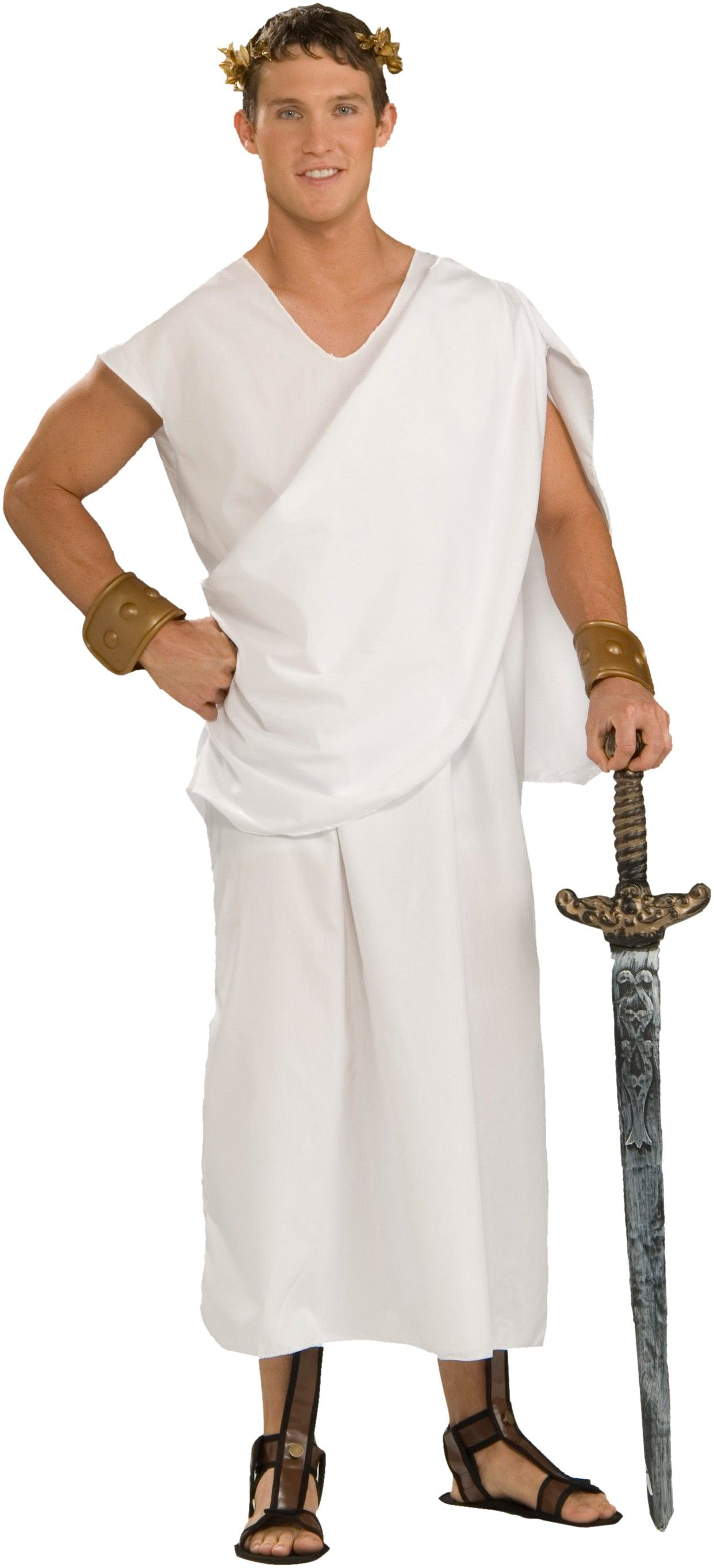 Toga Toga Adult Plus Costume Includes one white robe with