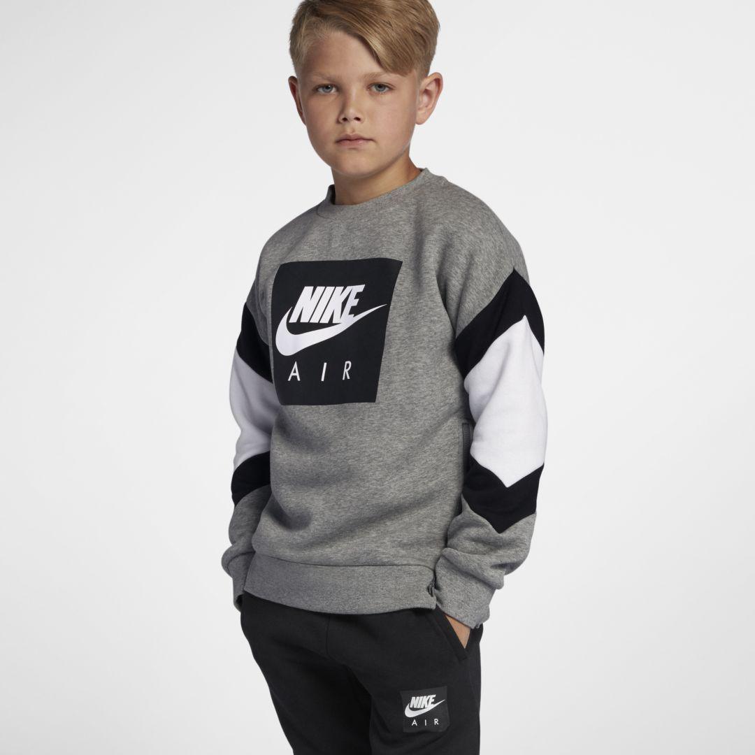 Nike Little Kids Grey Air Crew Sweater