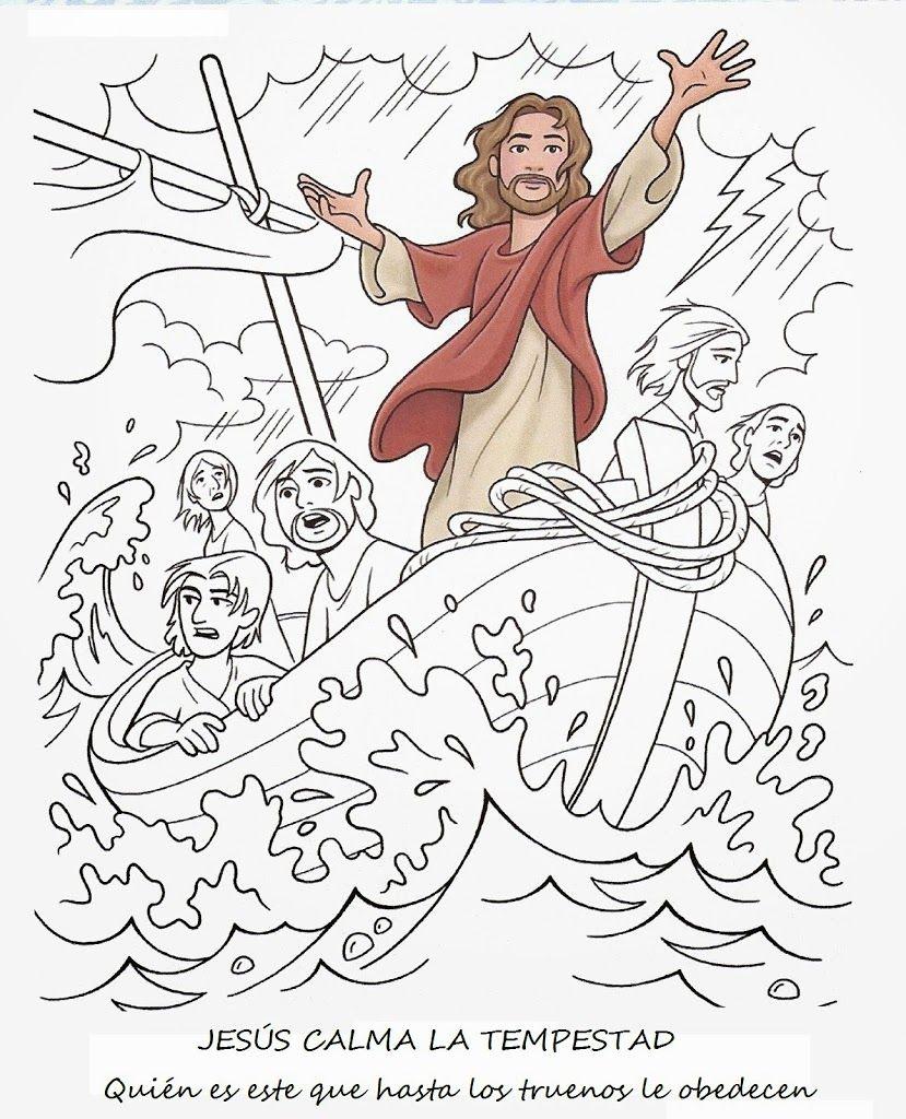 JESÚS CALMA LA TEMPESTAD | Me Aburre la Religión … | Pinteres…