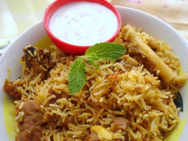 Only telugu film news: Spicy Mutton Biryani recipe using Pressure cooker
