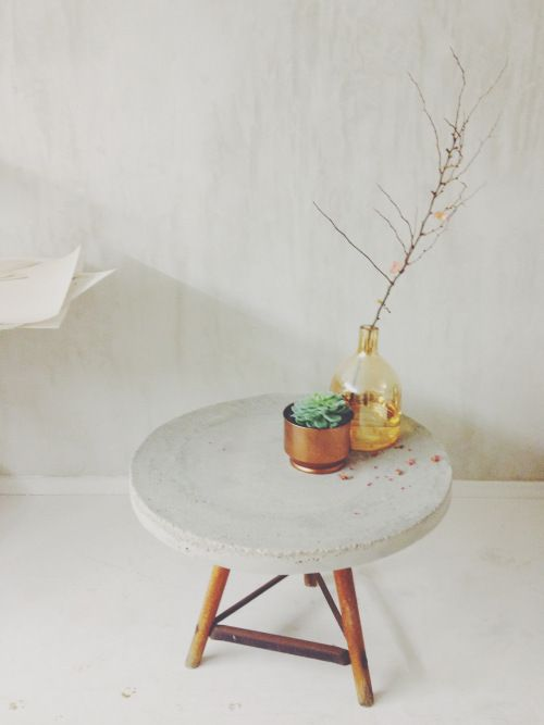 Diy Concrete Table Via Stilzitat Blog Decoração Retro
