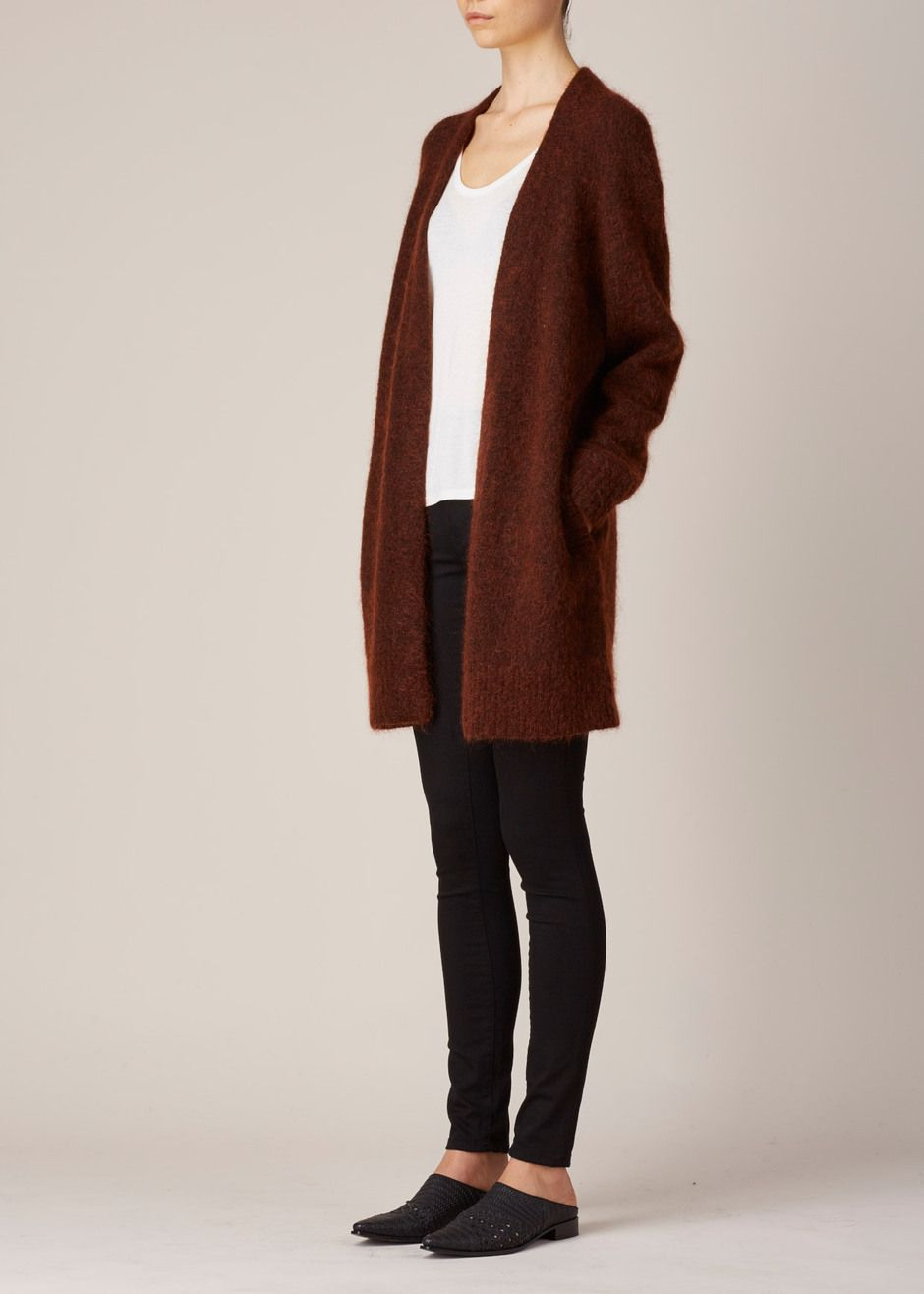 Acne Studios Raya Mohair Cardigan (Rust Brown) | Clothes ...