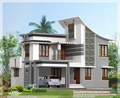 3 Bedroom Modern House Design Awesome Modern 3 Bedroom House In 1880 Sqfeet  Kerala Home Design And Inspiration