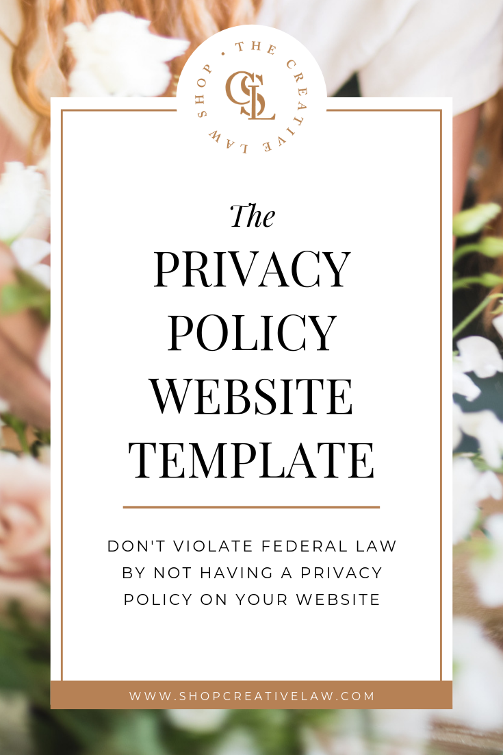 Privacy Policy Website Template Ccpa Gdpr Compliant The Creative Law Shop Creative Business Website Template Small Business Tips