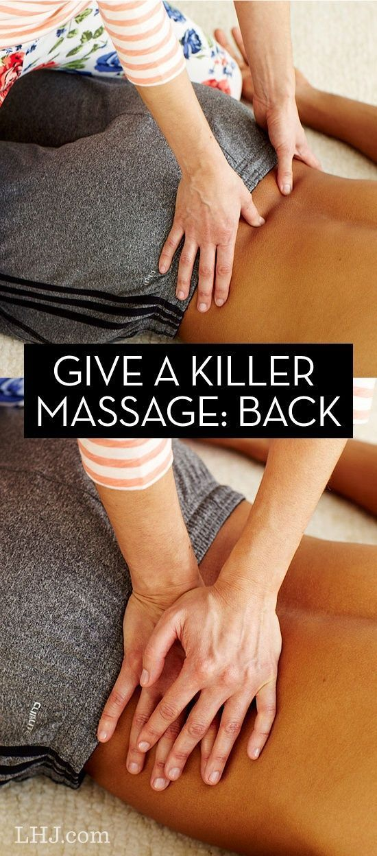 how to give a massage back