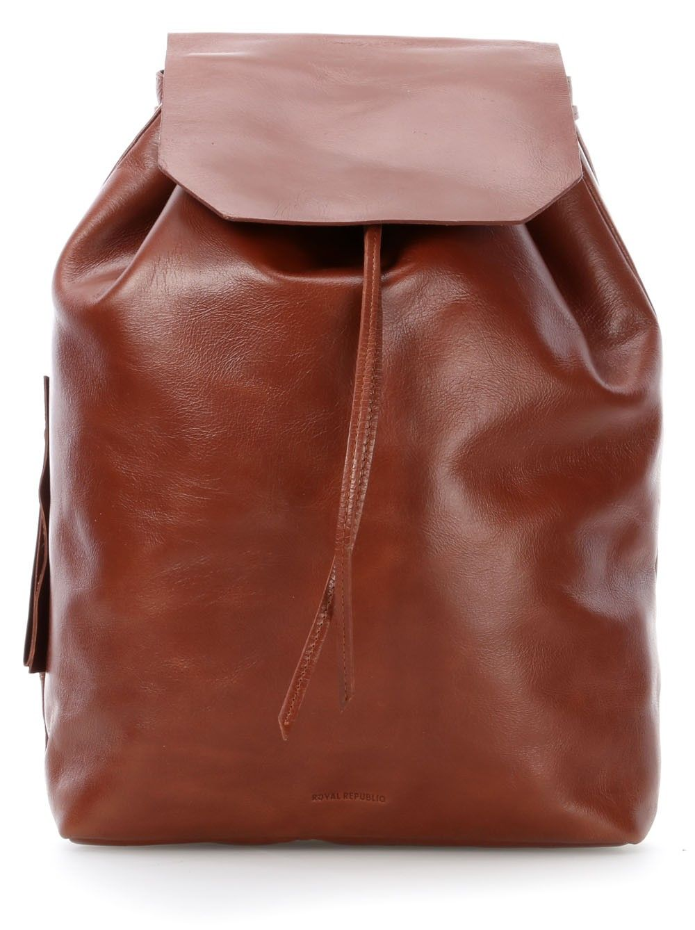 wardow.com - Royal RepubliQ, Bucket 13'' Rucksack Leder Cognac 40 cm