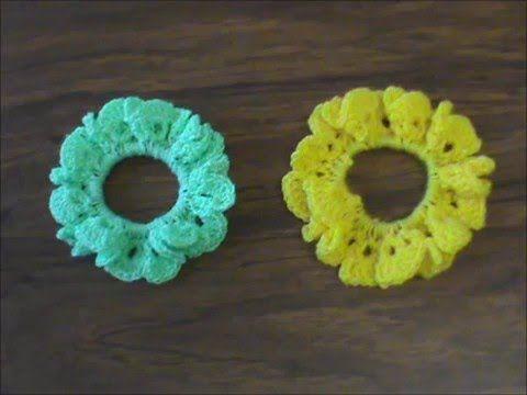 Redecilla para rodete del cabello en tejido crochet tutorial paso a ...