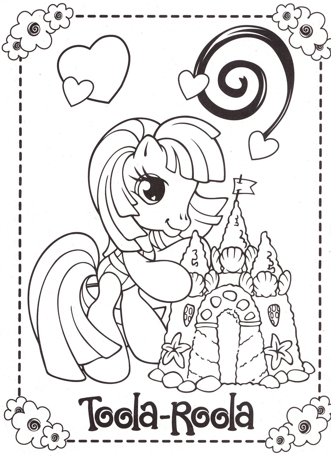 Mylittleponycoloringpages pony and craft
