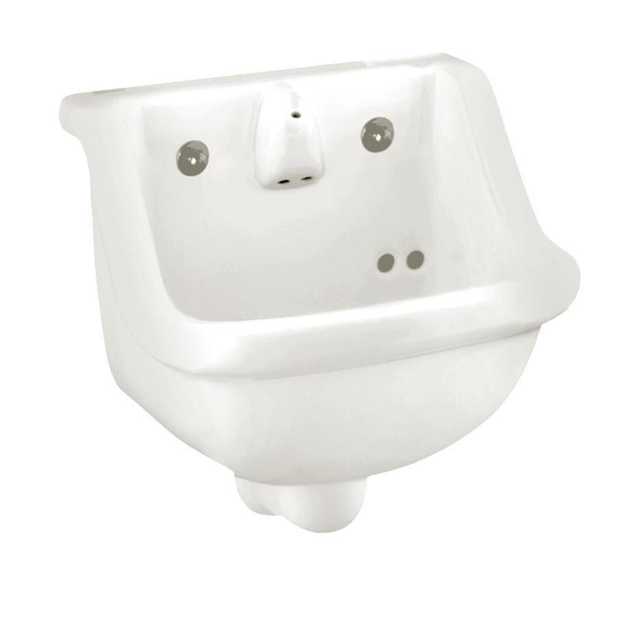 American Standard White Wall-Mount Rectangular Bathroom Sink With ...