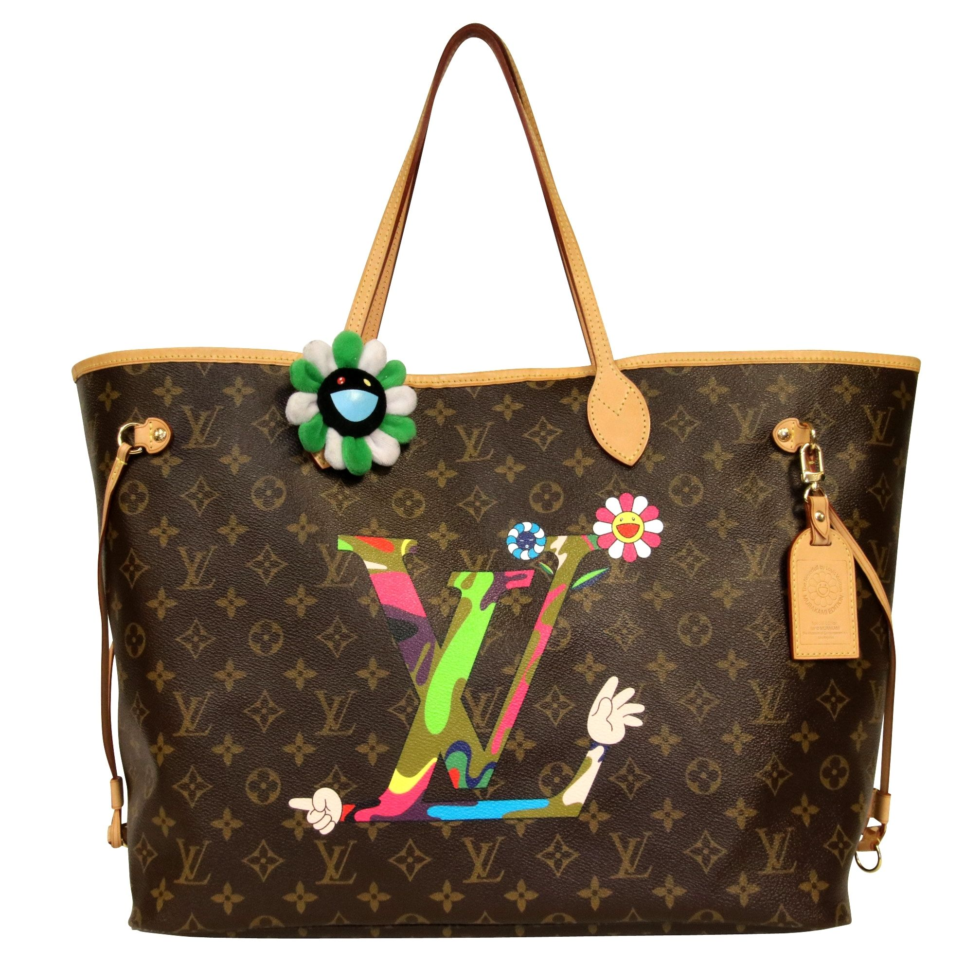 fe8e0ae521bd6 Louis Vuitton New Murakami Moca Neverfull Gm Ltd Ed  m95560  rare  Brown Tote  Bag. Get one of the hottest styles of the season!