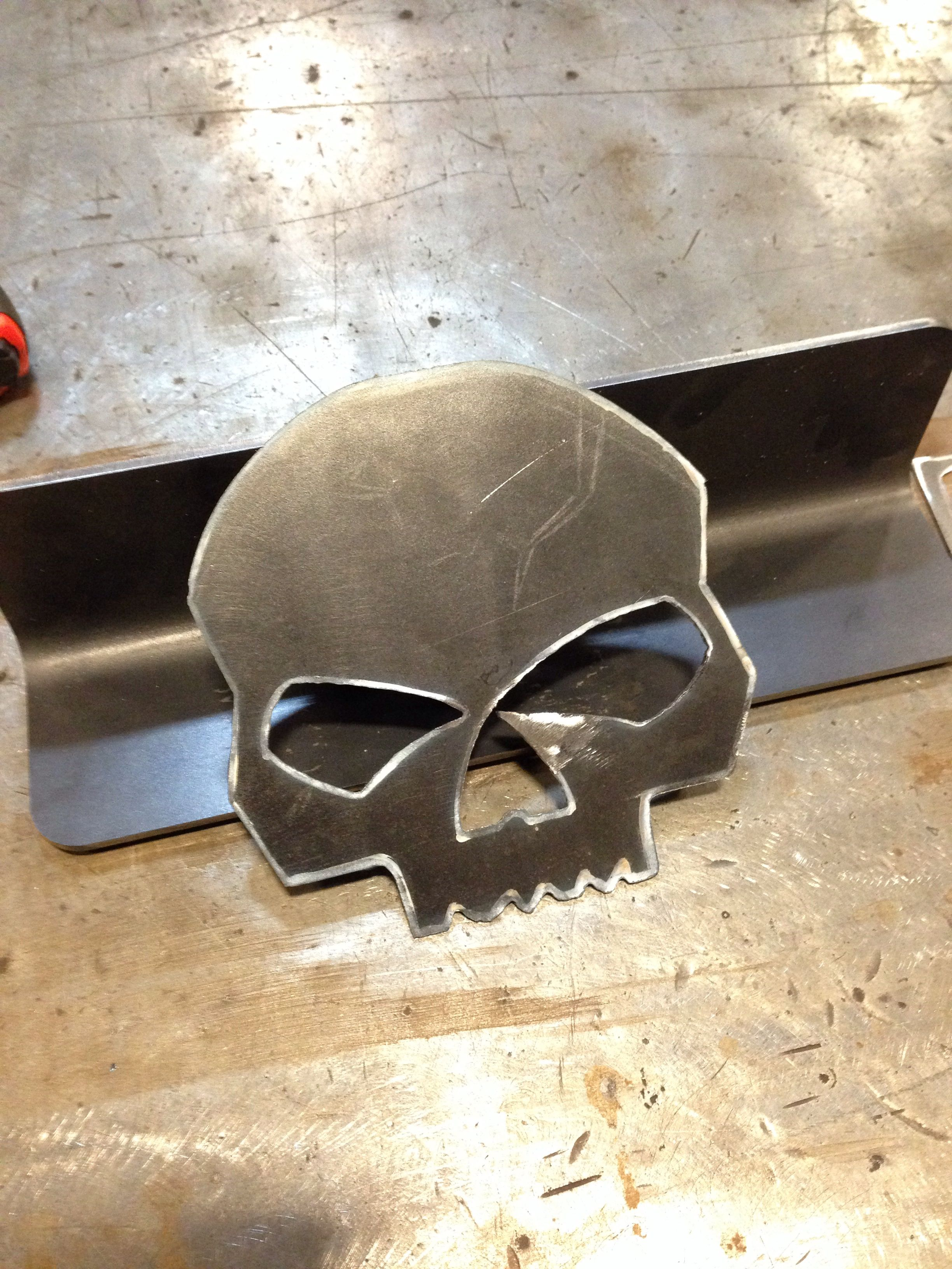 Harley Davidson Skull Cut Out With A Plasma Cutter My Projects Pinterest