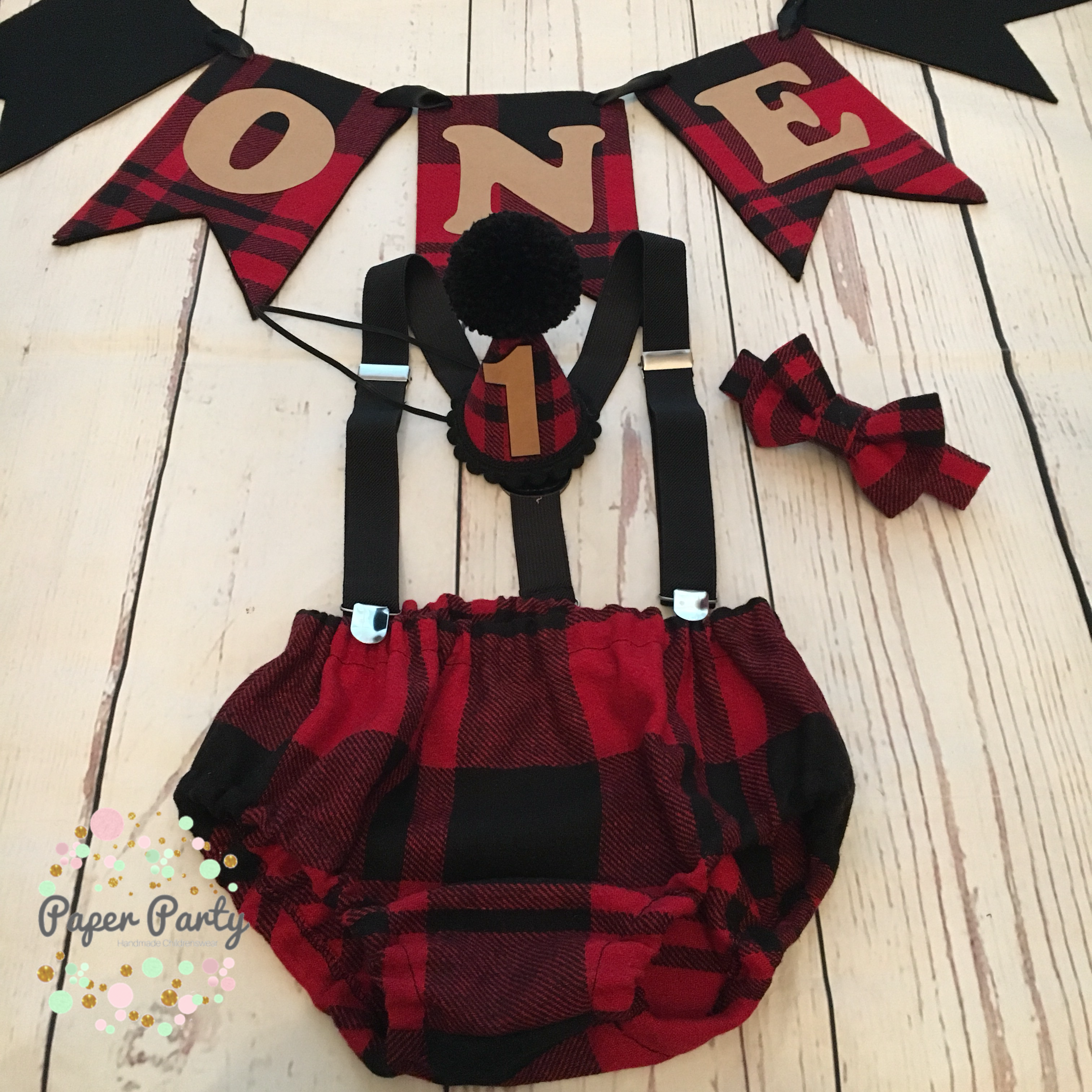 Flannel shirt cake  Custom lumberjack theme cake smash outfit Instagram