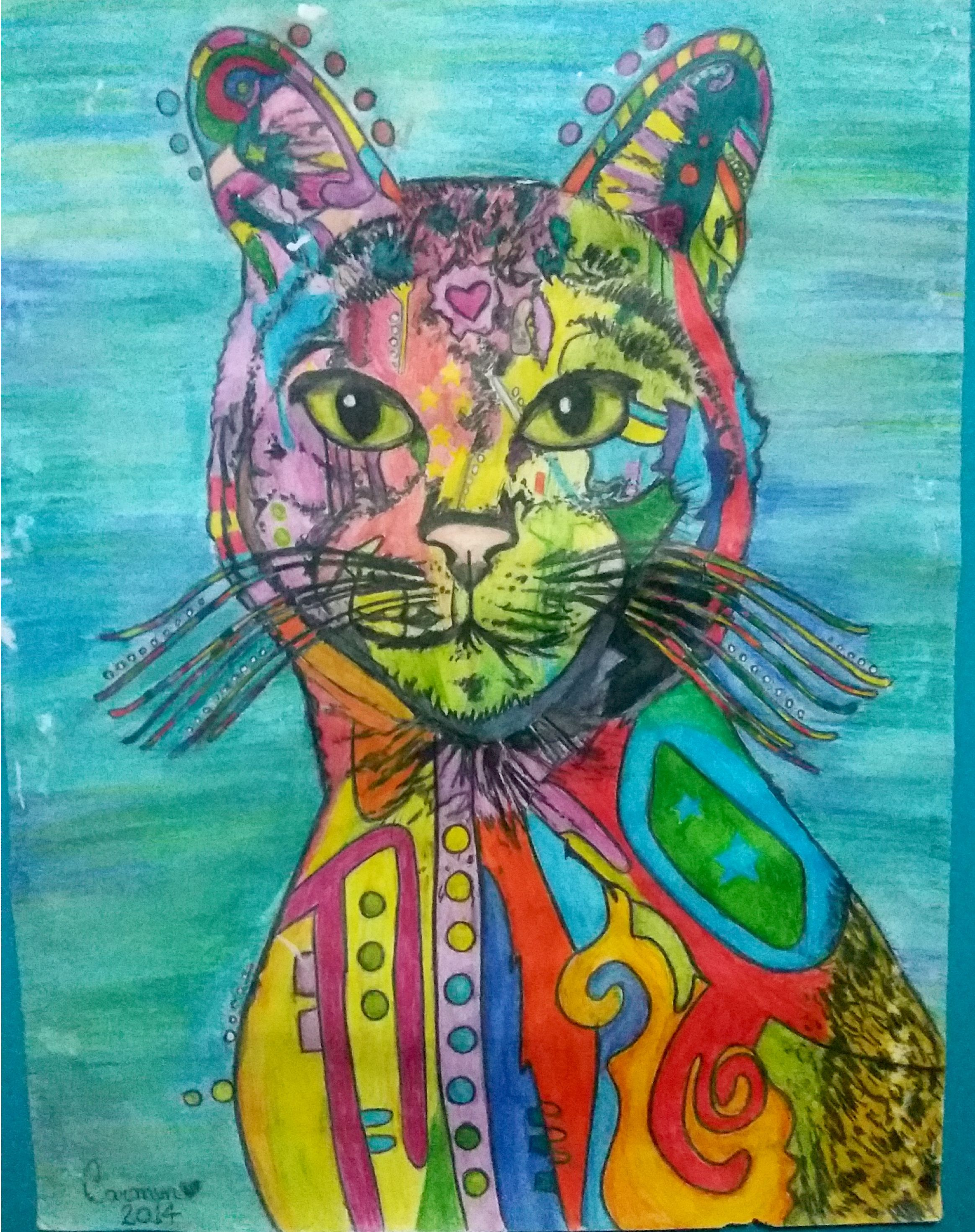 #arte #desenho #ilustração #gato
