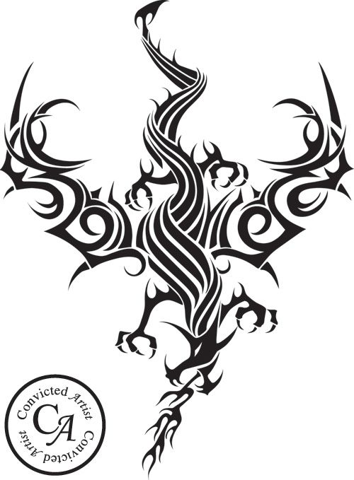75efb247b dragon and wolf art - Google Search | dragon | Tribal art, Tribal ...