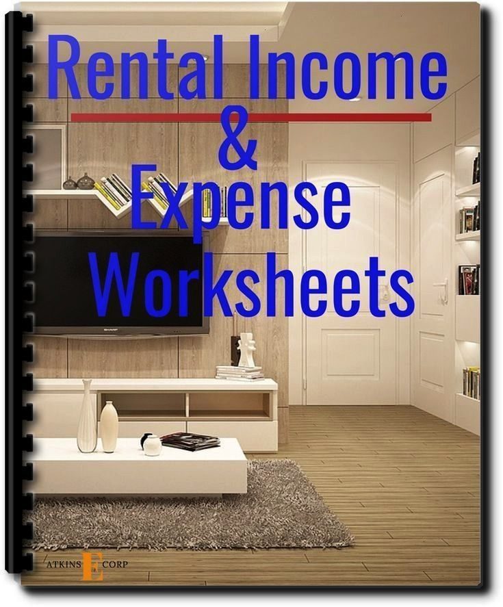 Income and Expense Worksheets with Mileage Logs#expenseRental Income and Expense Worksheets with Mi