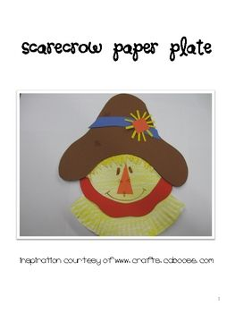 This scarecrow paper plate is a fun activity to do during the fall. It is  sc 1 st  Pinterest & This scarecrow paper plate is a fun activity to do during the fall ...