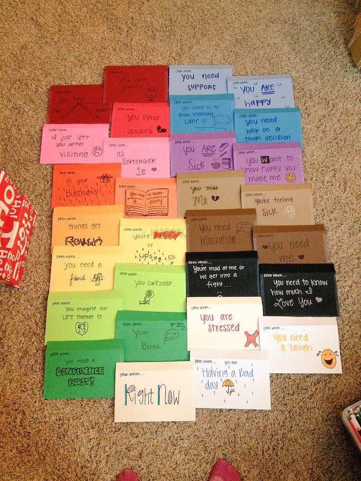 Cute gift idea for boyfriend/ girlfriend Open when