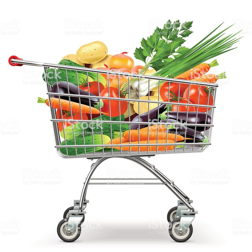 Pin By Rosana Perez On Vegetarian Dishes Supermarket Trolley Food Clips Supermarket
