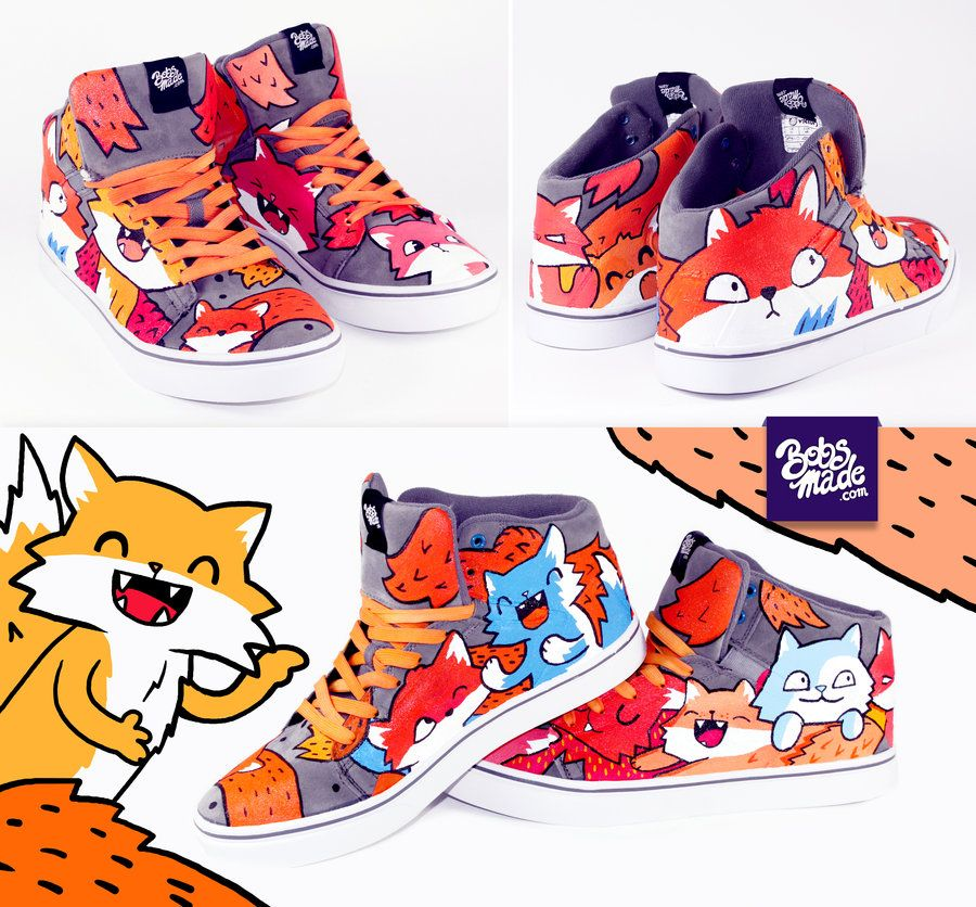Fox sneaker by Bobsmade deviantart com on @deviantART | My