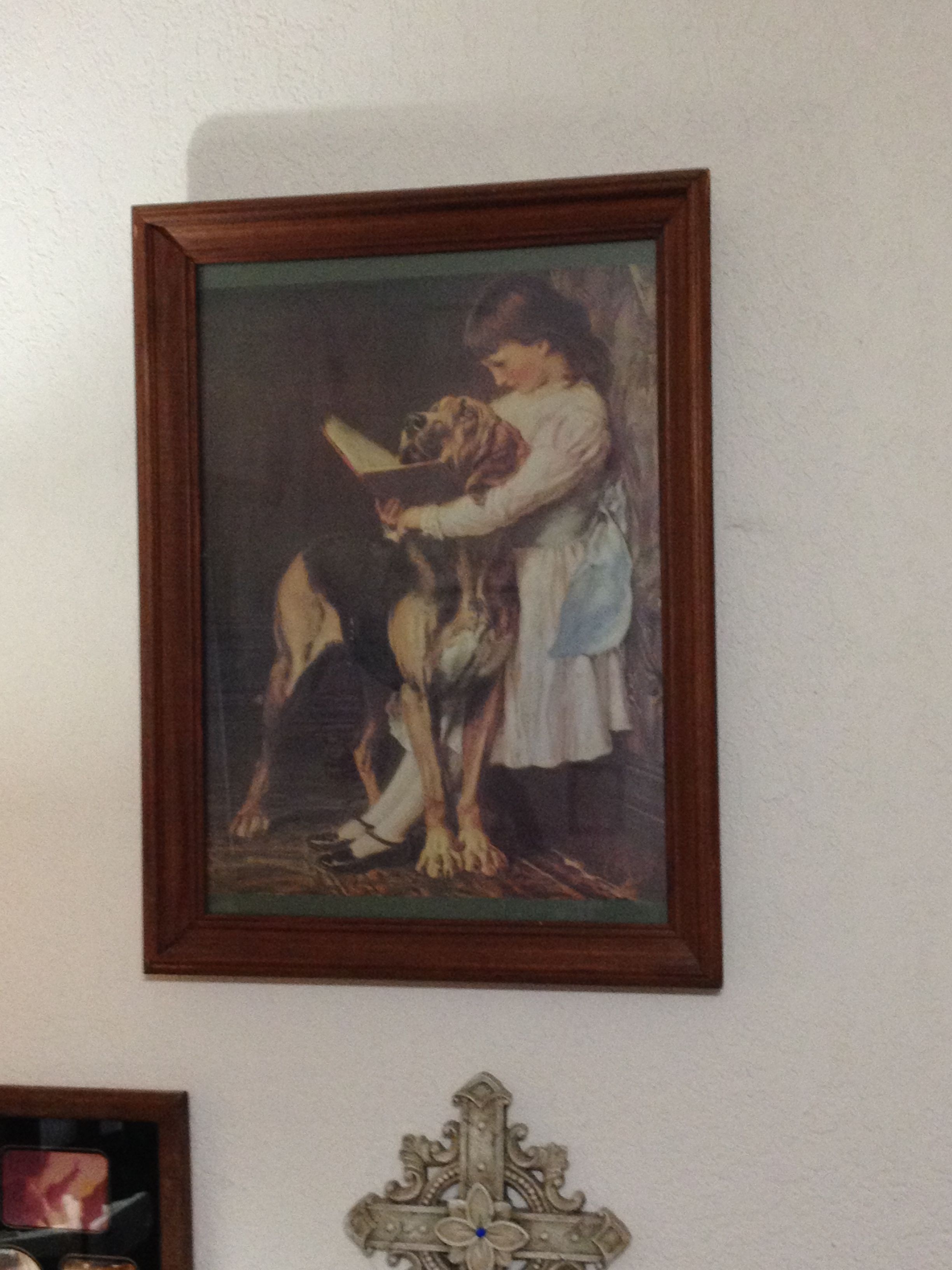 Victorian Girl & Her Dog - Picture in McloudDiane's Garage Sale in McLoud , OK for $25.00. Victorian Girl & Her Dog - Picture