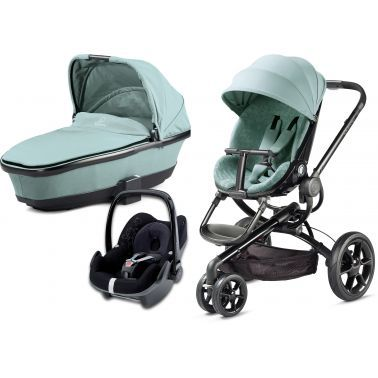 Quinny Moodd 3 In 1 Pushchair Grey Crackle With Pebble Colour Grey