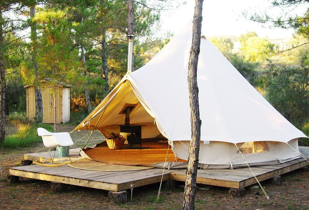 Forest Days Glamping - Lux bell tents one hour from Barcelona, Spain | Best tents for camping, Tent design, Bell tent glamping