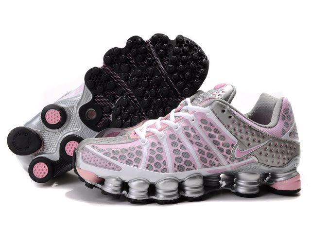 ba15641de87f 437CJ05 2014 Womens Silver Pink Nike Shox TL3 Shoes